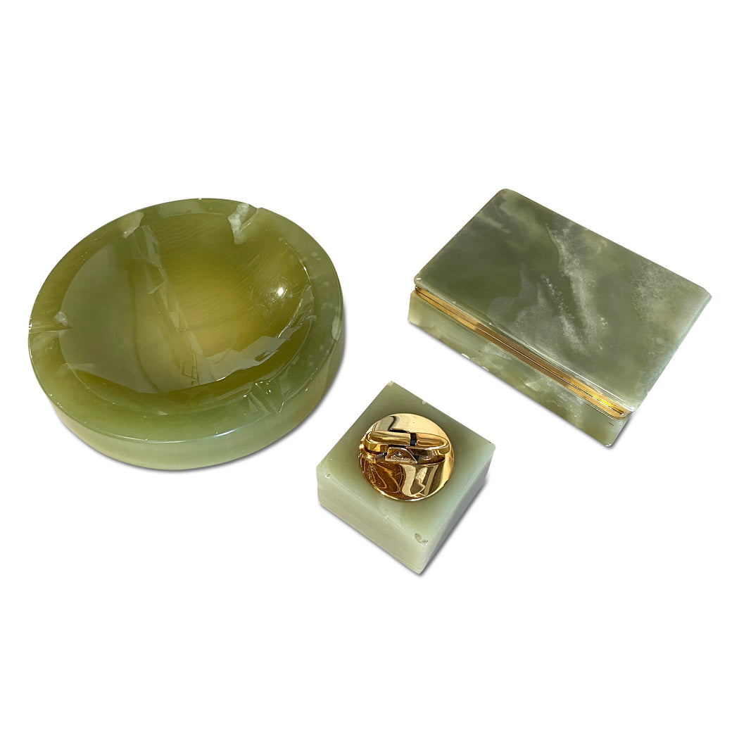 3-Piece Green Onyx Smoke Set