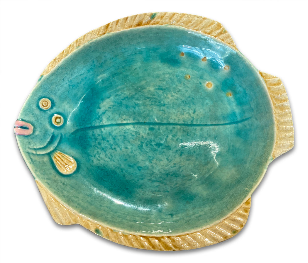 Blue Fish Ceramic Platter