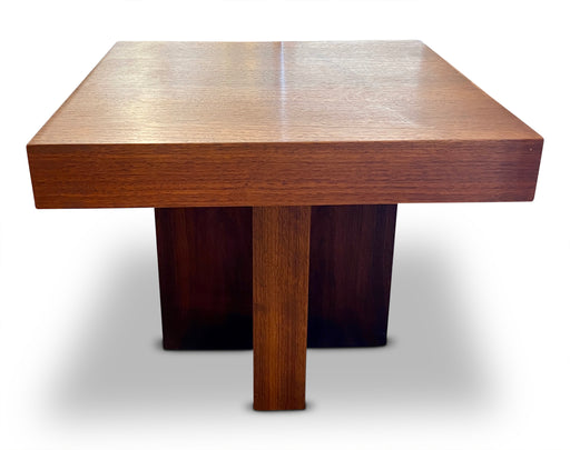 MCM Cross Base Wood End Table
