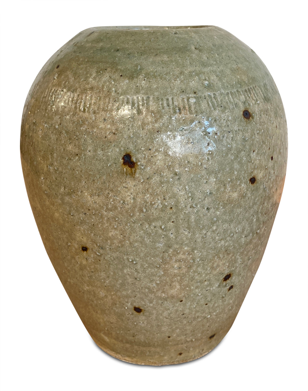 Large Beige Ceramic Vase