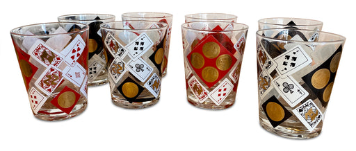 Set of 8 Deck of Cards Tumblers