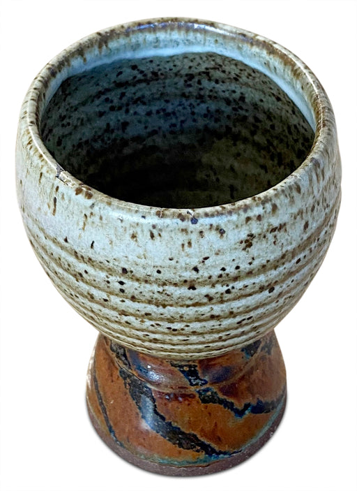 Footed Studio Pottery Vessel