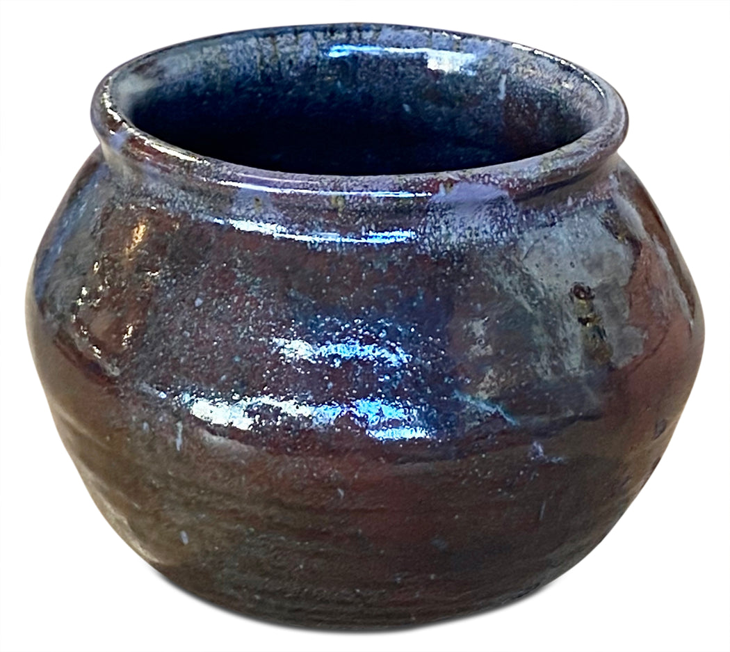 Burgundy Studio Pottery Planter