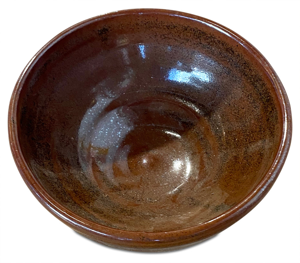 Glazed Burgundy Ceramic Bowl