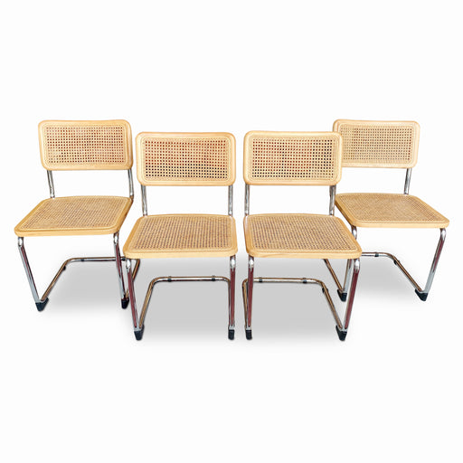 Set of 4 Cesca Style Cantilever Chairs