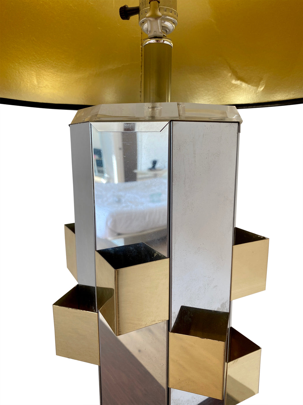 Chrome + Brass Lamp by Laurel