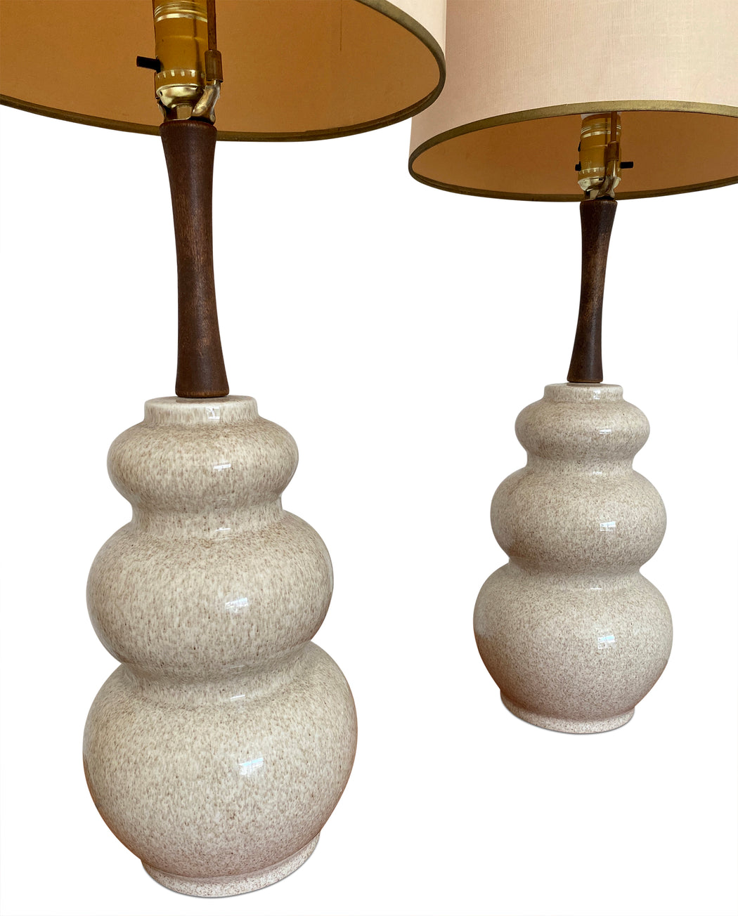Pair of MCM Ceramic Bubble Lamps