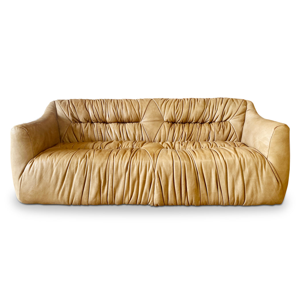 De Sede Ruched Leather Sofa