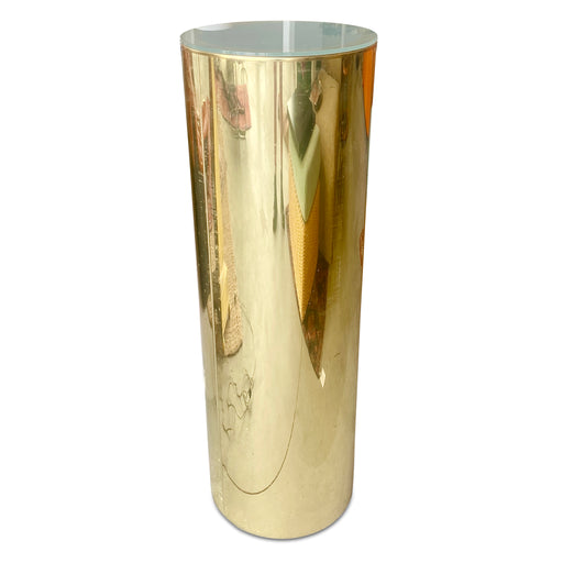 Illuminated Brass Pedestal Lamp