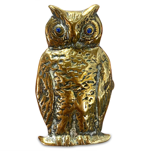 Solid Brass Owl Matchstick Holder