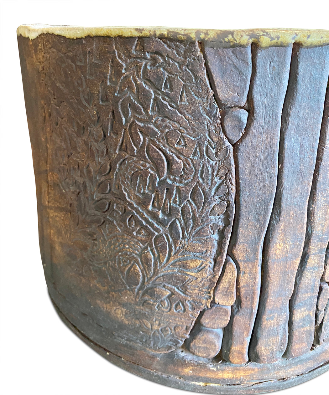 Etched Ceramic Planter
