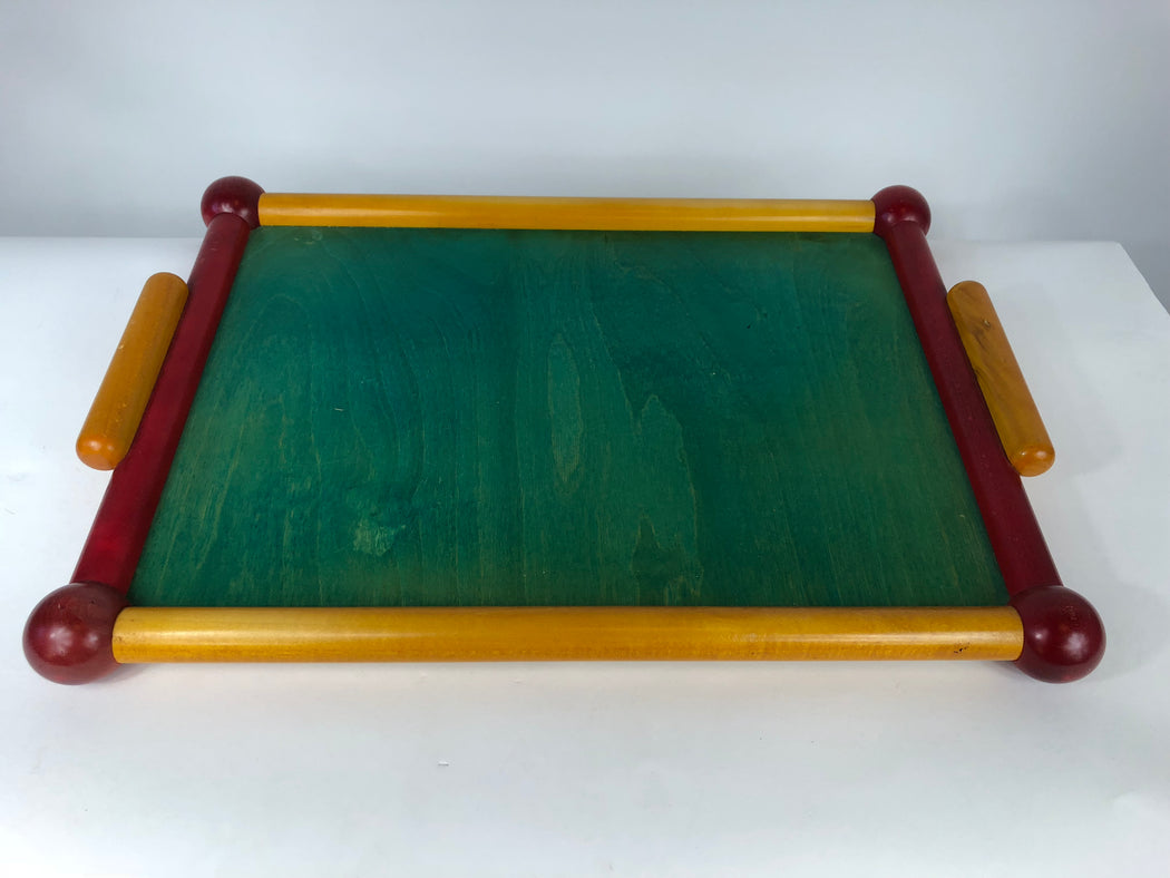 Italian Red Green Yellow Tray