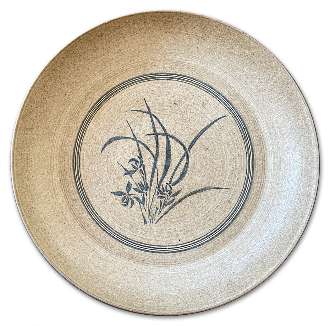 Ceramic Plate w Grass Imagery