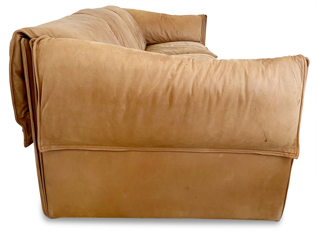 Danish Modern Leather Sofa