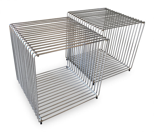 Pair of Verner Panton Chrome Cube Tables