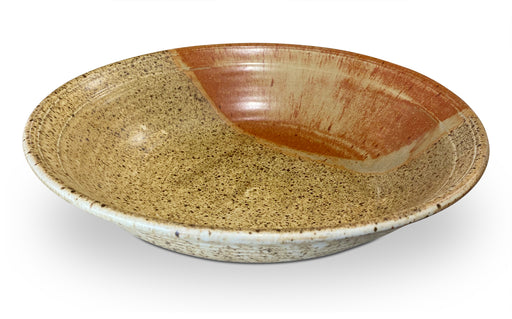 Large Speckled Two Tone Ceramic Bowl