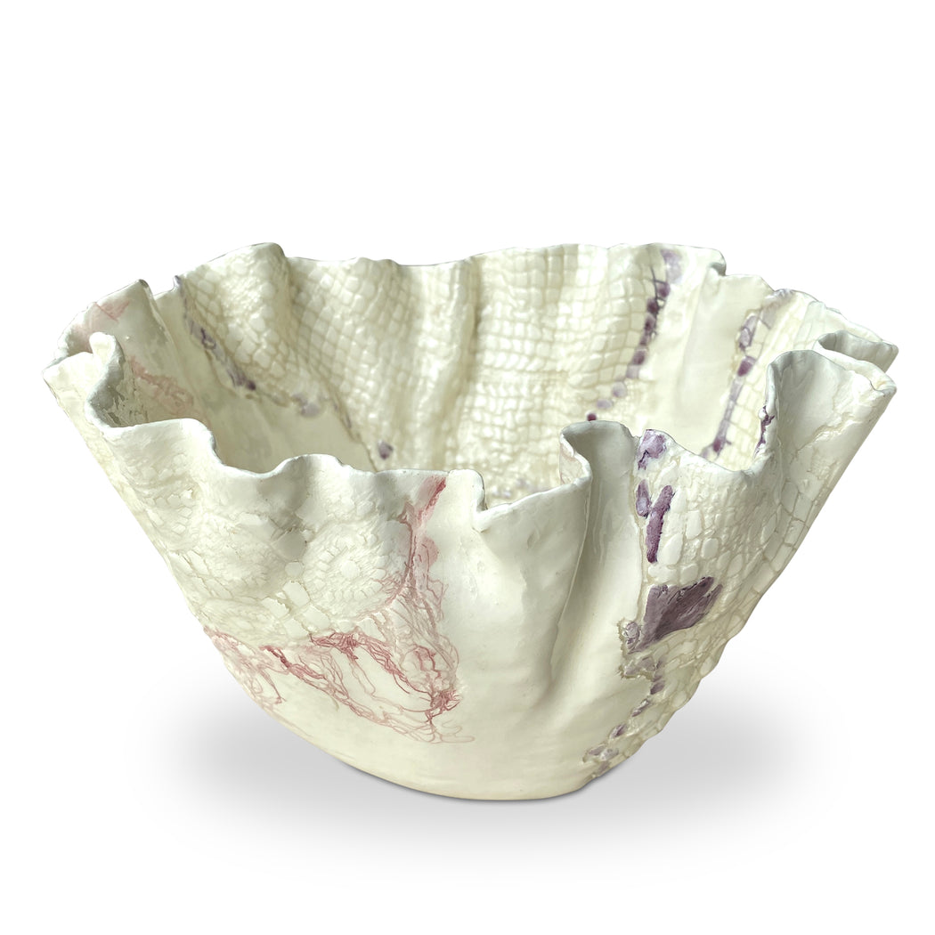 Jumbo Ceramic Ruffled Bowl