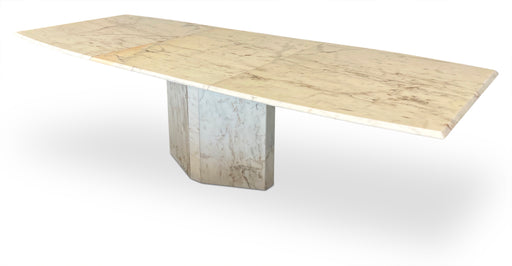 White Marble Extendable Dining Table