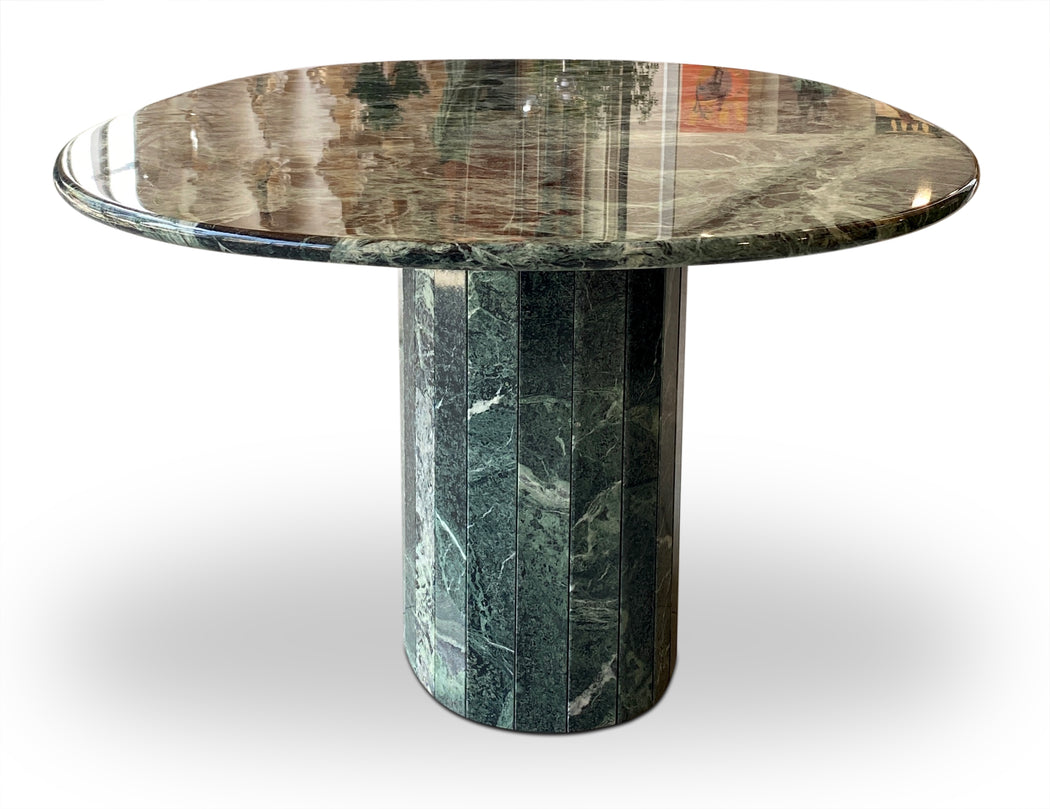 Green Marble Oval Dining Table