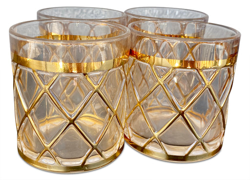 Set of 4 Gold Caged Tumblers