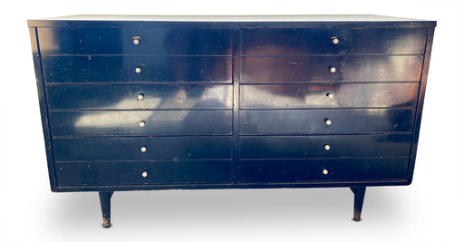 Vintage Black 4-Drawer Dresser