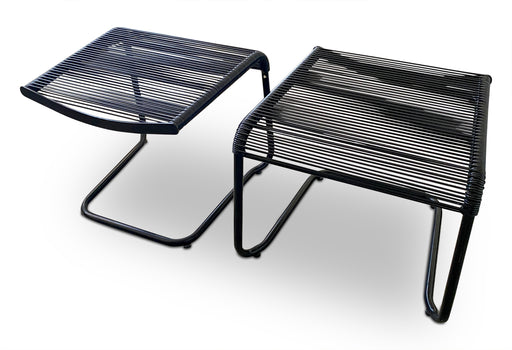 Pair of Black Corded Stools