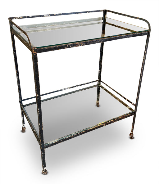 Antique Iron Bar Cart