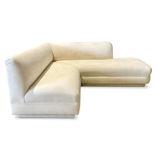 Ivory V-shape Sectional by A. Rudin for Steve Chase
