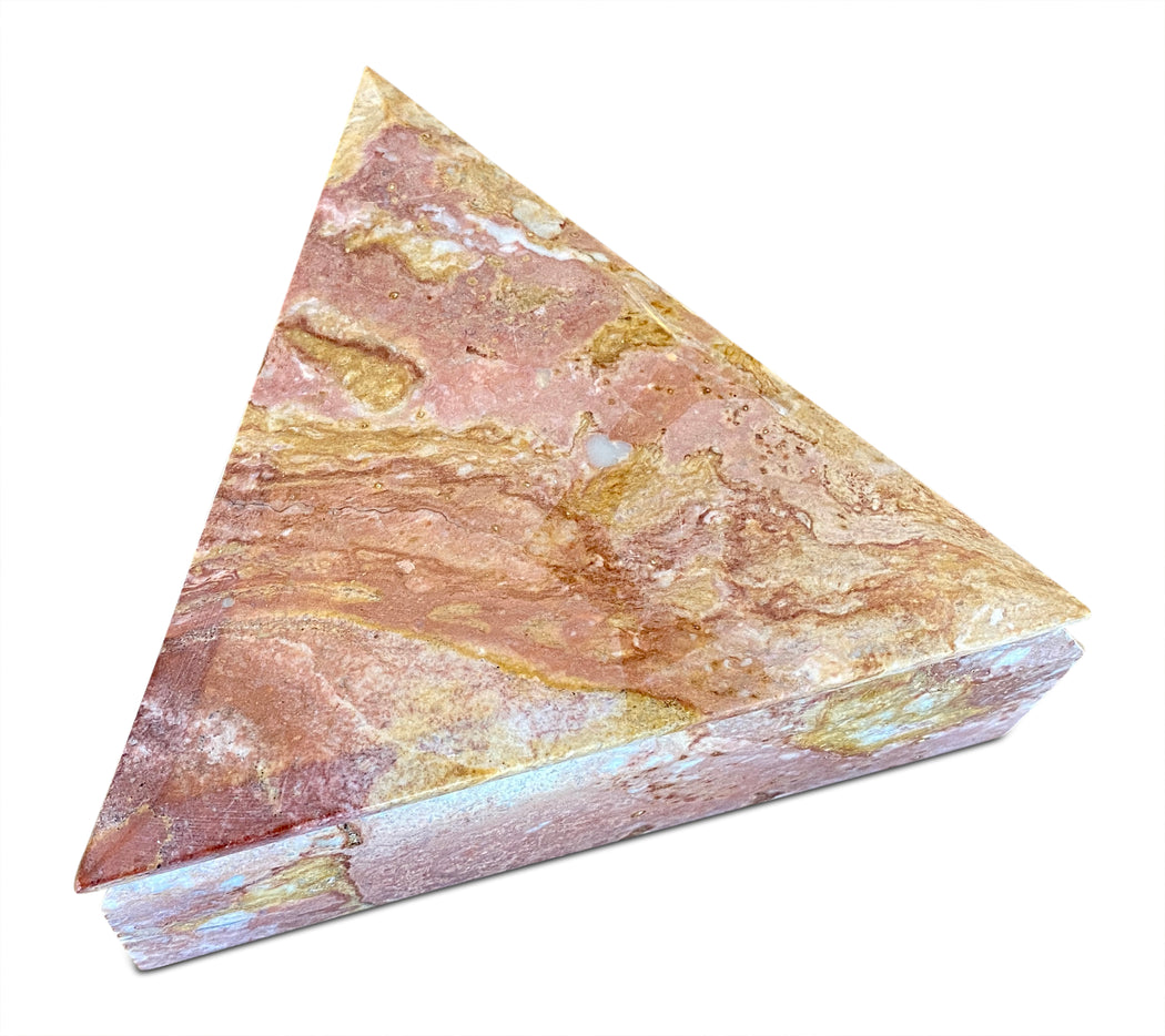 Triangle Pink Marble Trinket Box