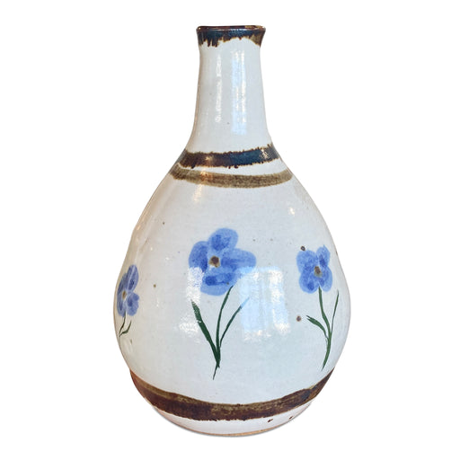 Ceramic Bottleneck Vase w Flowers