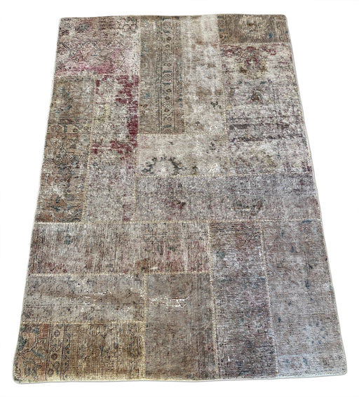 Muted Tones Patchwork Rug