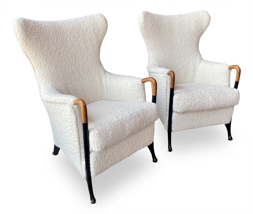 Pair of Giorgetti Progetti Boucle Hammerhead Chairs