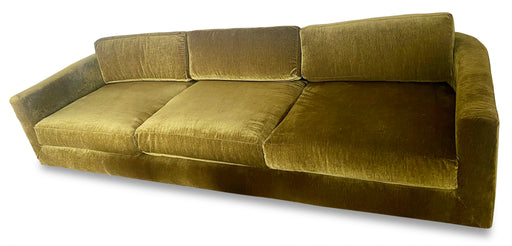 Green Velvet 3-Seater Sofa