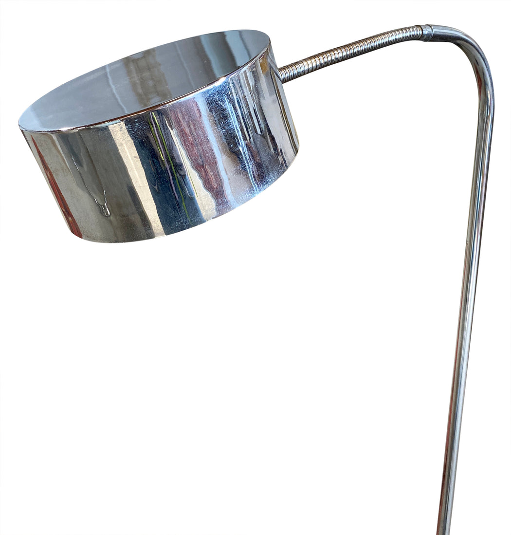 Chrome Saucer Floor Lamp