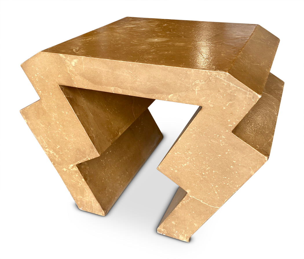 Gold Zig Zag End Table