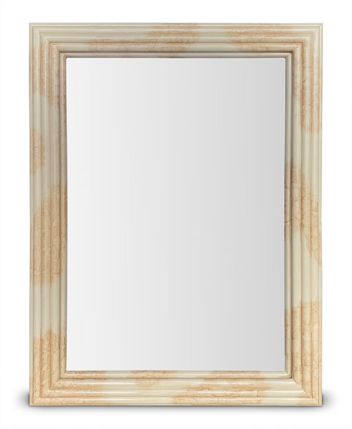 Faux Stone Ivory Mirror