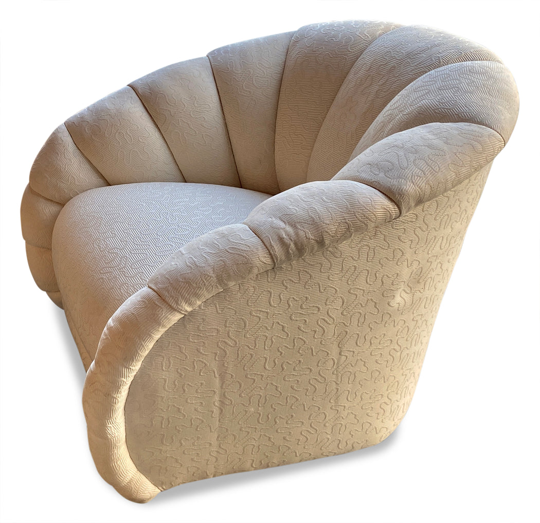 Pair of Ivory Swivel Chairs