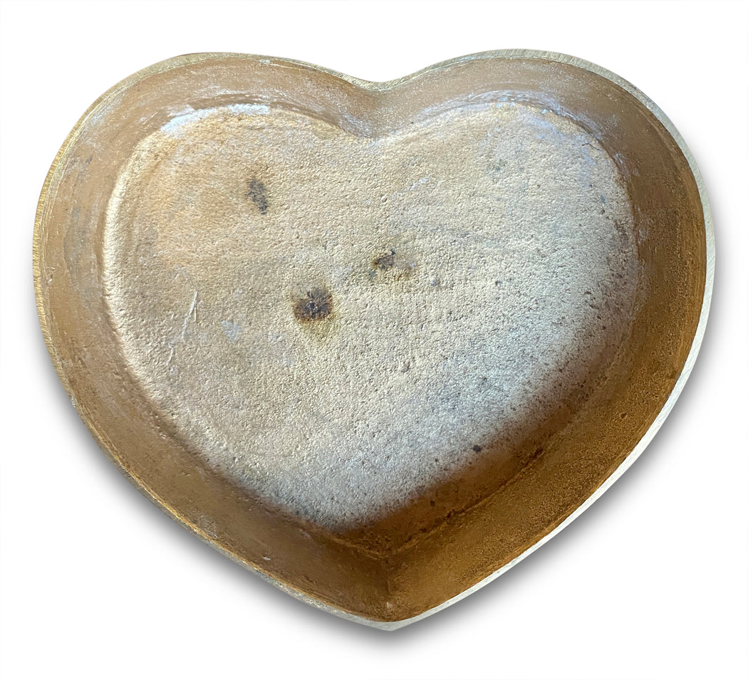 Brass Heart Shaped Trinket Box (L)
