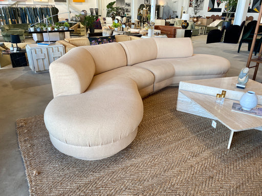 Knubby Sand Curved Sofa by Directional