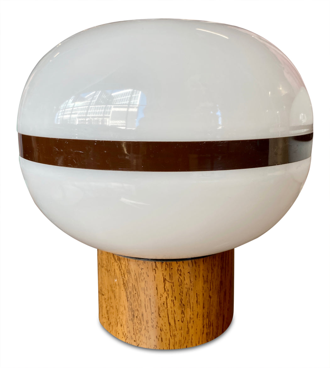 Pair of MCM Orb Table Lamps