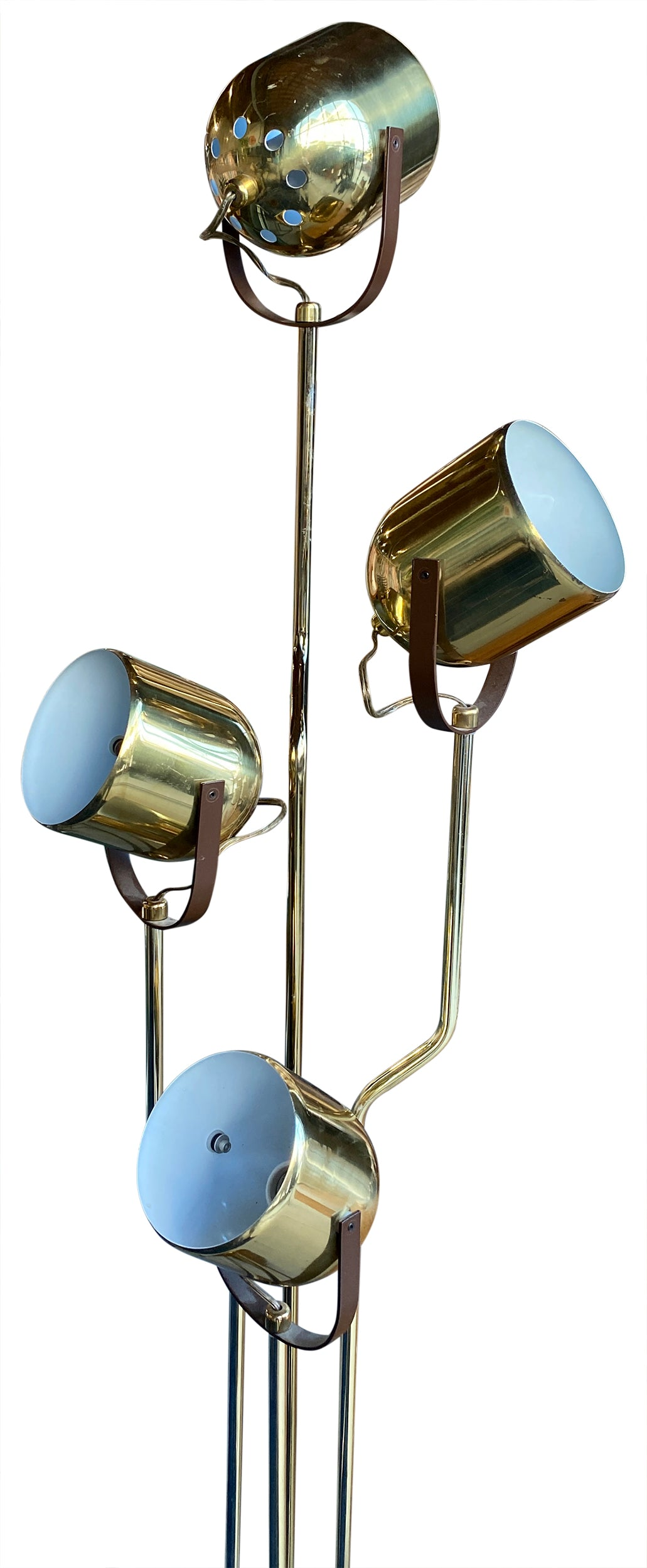 4-Light Brass Floor Lamp