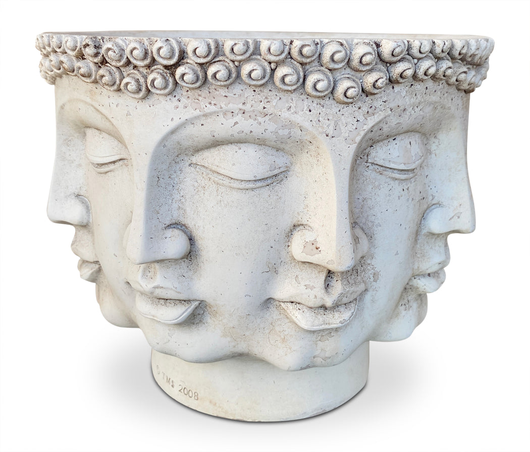 Multi-Face Cement Planter