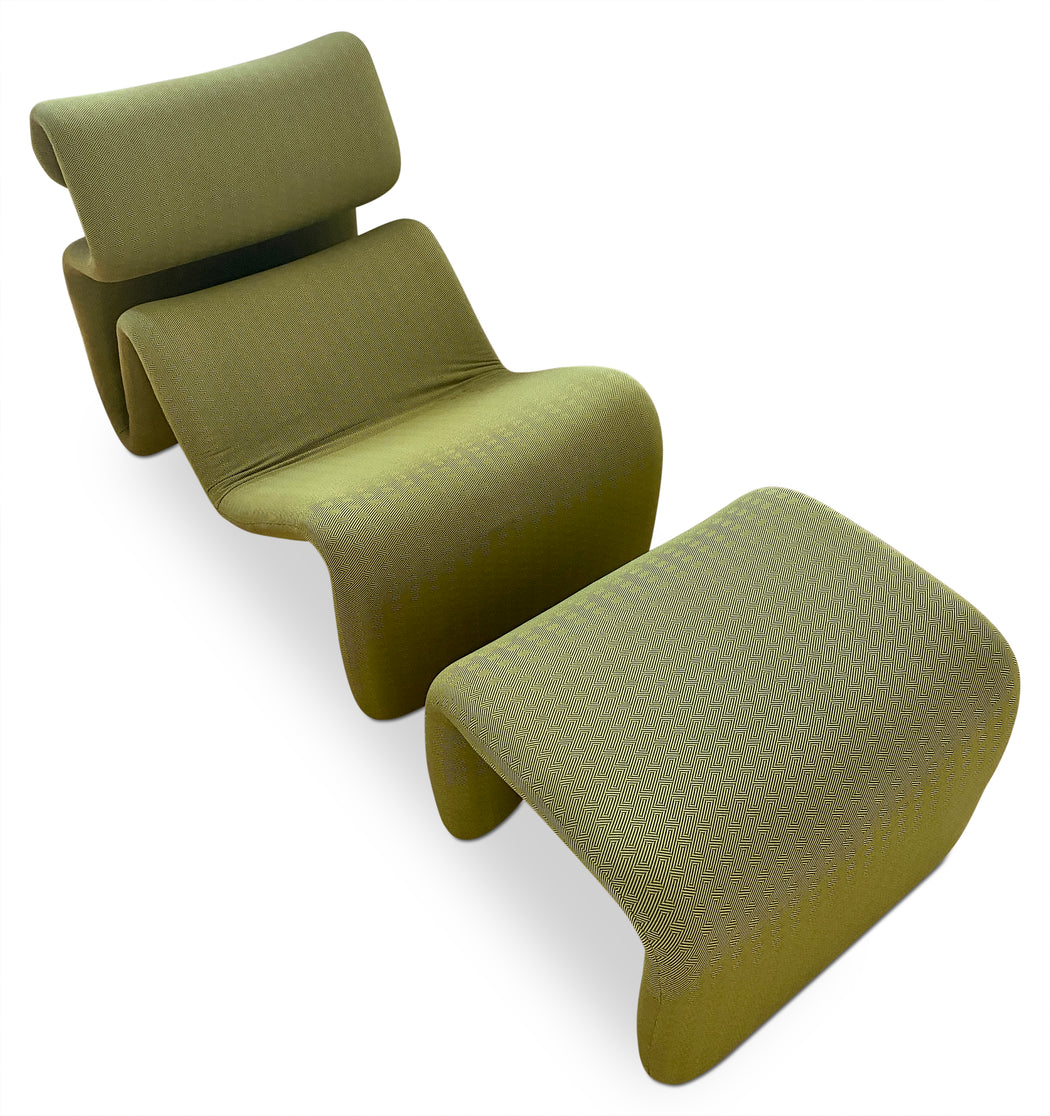 Green Etecera Lounge Chair by Jan Ekselius