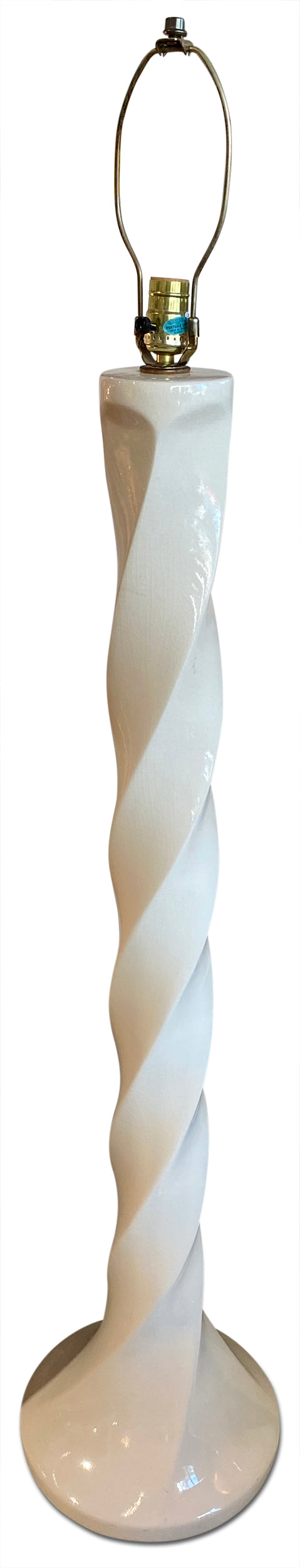 White Ceramic Swirl Lamp