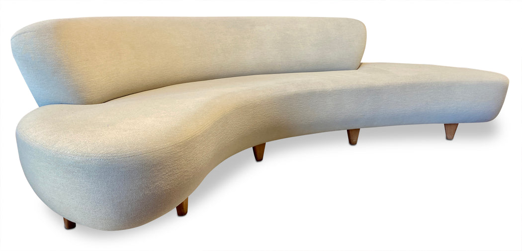 1970s Vladimir Kagan for Modernica Curved Sofa
