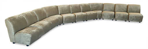 11-Piece Modular Velvet Sectional