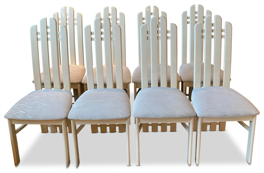 Set of 8 Deco Dining Chairs