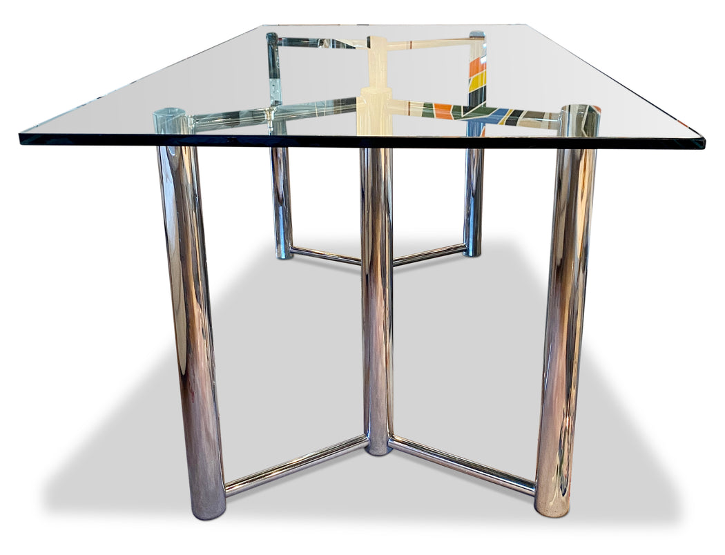 Tubular Chrome Dining Table