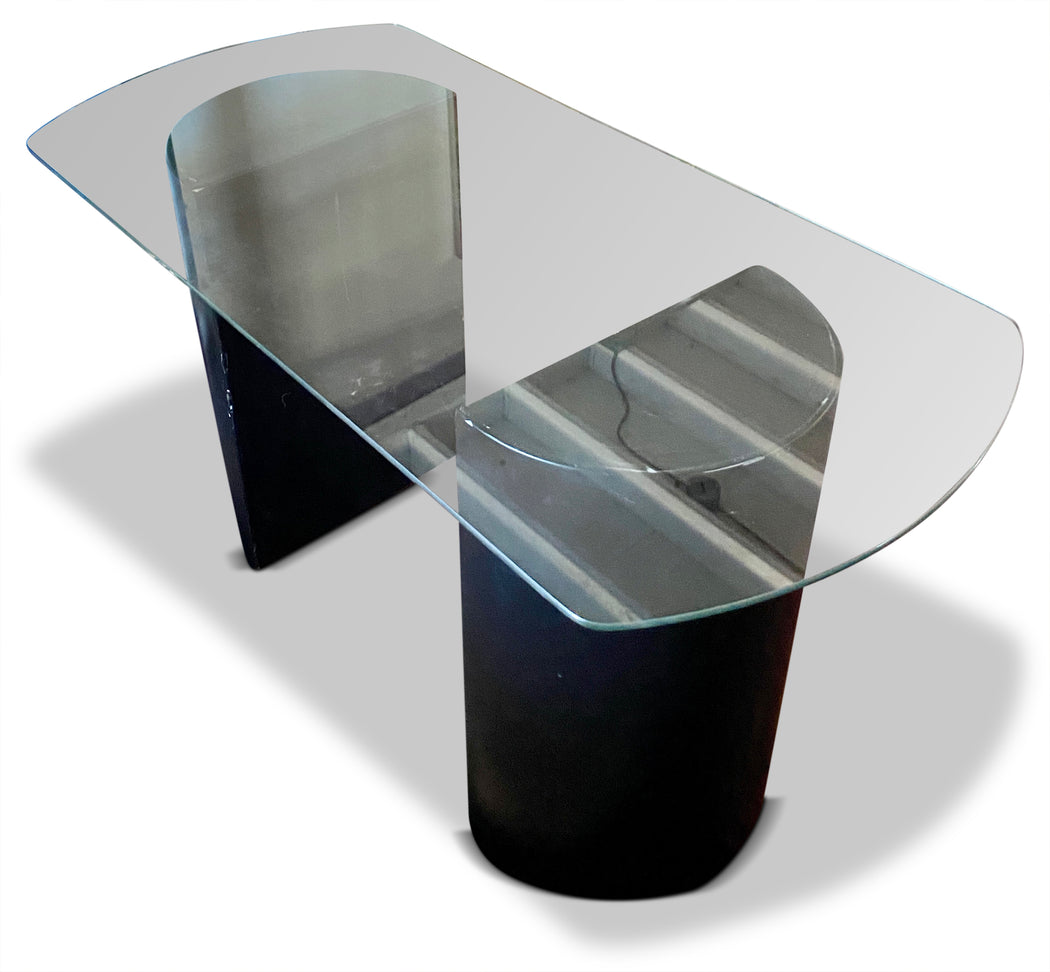 Postmodern Glass Desk