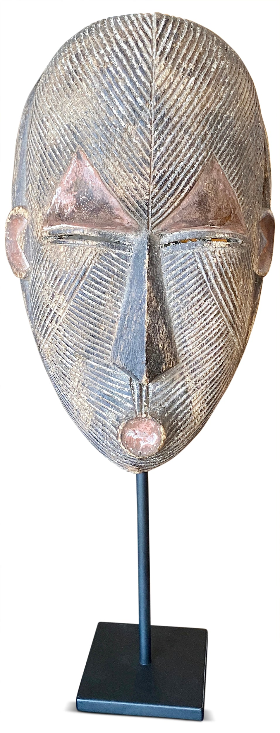 Antique African Mask on Stand